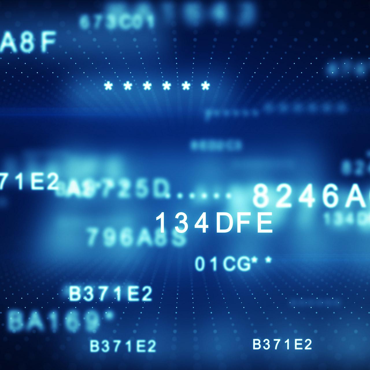 Decryption of blue digital data code