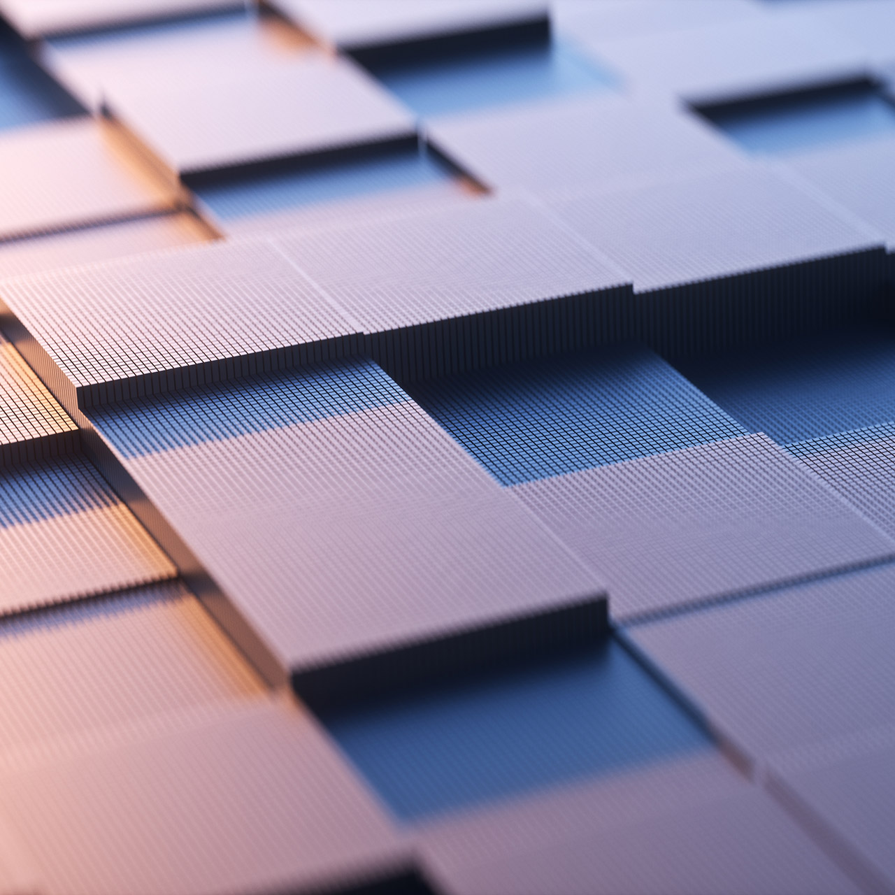 An abstract square background with a metal sense of technology.3d rendering.