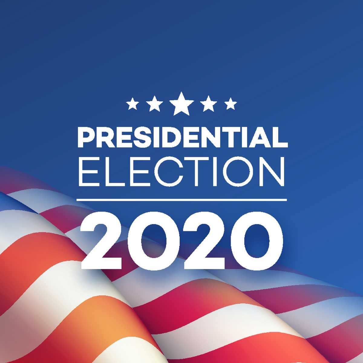 American Presidential Election 2020 background design